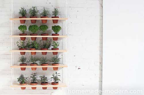 Hanging Garden Using Rope and Boards - Clay Pot Crafts
