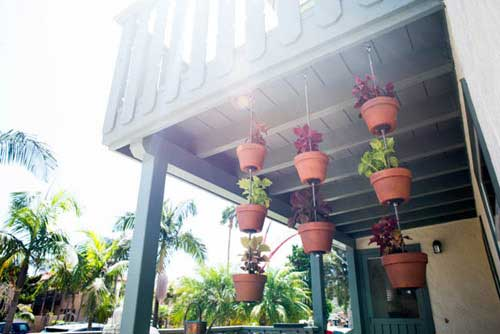 Hanging Garden Using Steel Rods - Clay Pot Crafts