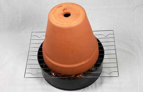 Basic Single Pot - Clay Pot Heaters - Clay Pot Crafts