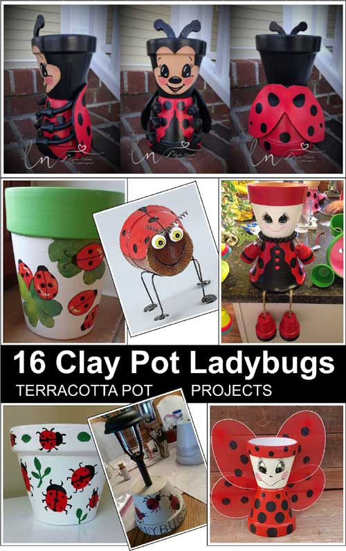 Clay Pot Ladybugs Clay Pot Crafts