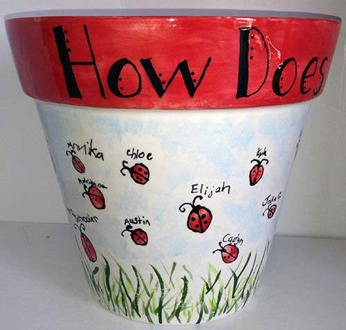 Clay Pot Ladybugs Made With Fingerprints - Clay Pot Crafts