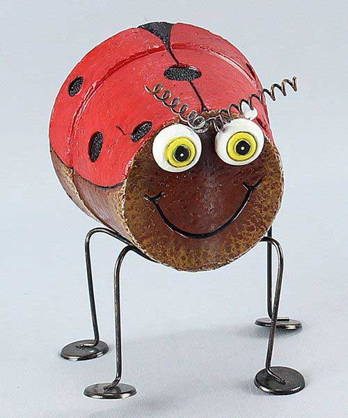 Clay Pot Ladybugs on Legs - Clay Pot Crafts