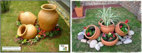 Create a Feature - Terracotta Landscape - Clay Pot Crafts