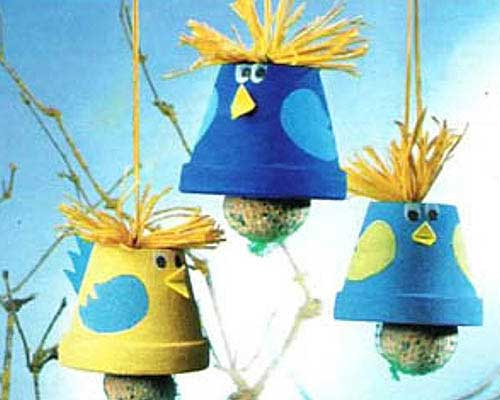 Cute Decorative Bird Feeders - Clay Pot Crafts