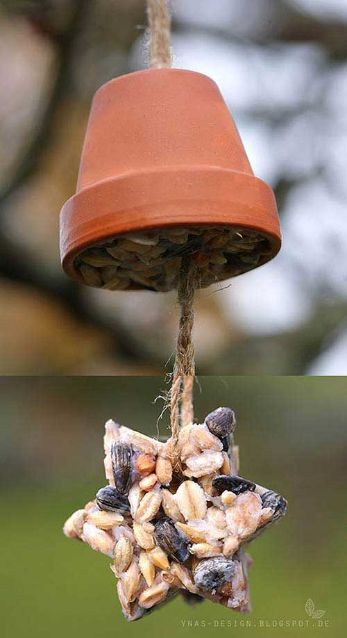 Fat Ball Star Decorative Bird Feeders -Clay Pot Crafts