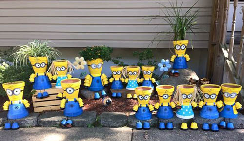 Flower Pot Minions - Clay Pot Crafts