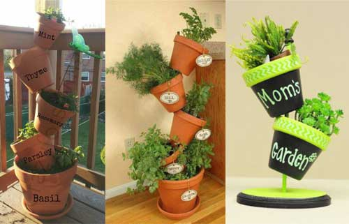 Herb Planters Topsy Turvy Planters - Clay Pot Crafts