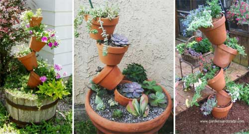 Keep It Natural - Topsy Turvy Planters - Clay Pot Crafts