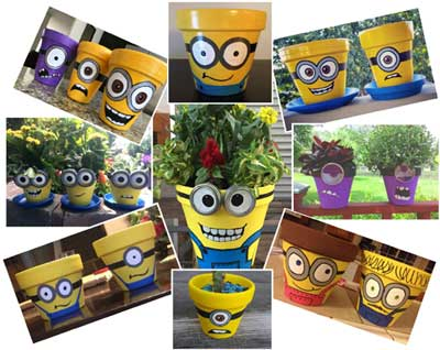 Lots of Pots - Flower Pot Minions - Clay Pot Crafts