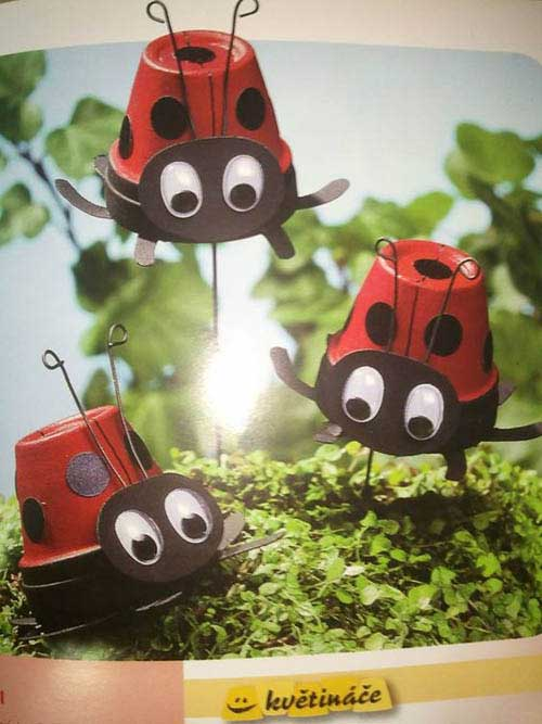 Mini Clay Pot Ladybugs Pot Decor - Clay Pot Crafts