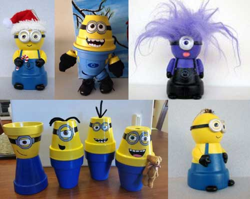 Minion People - Flower Pot Minions - Clay Pot Crafts