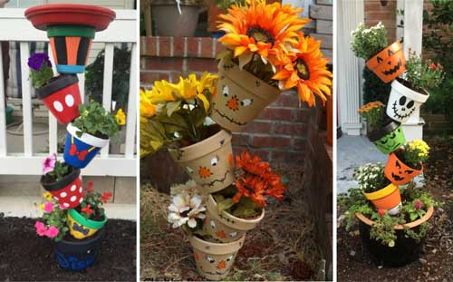More Themes Topsy Turvy Planters - Clay Pot Crafts