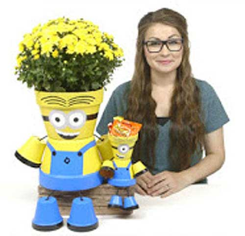 People Planter - Flower Pot Minions - Clay Pot Crafts