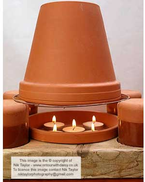 Tea Light Clay Pot Heaters - Clay Pot Crafts