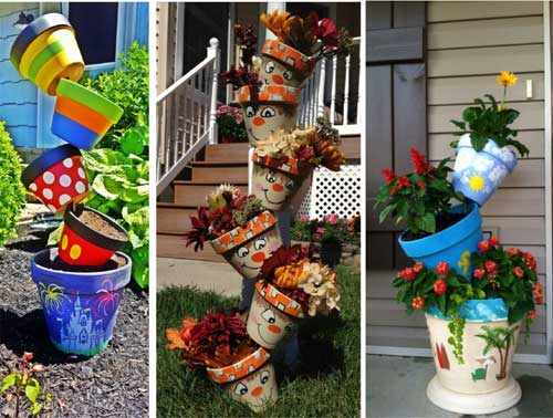Themes Topsy Turvy Planters - Clay Pot Crafts