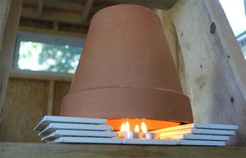 Tiled Two Pot Clay Pot Heaters - Clay Pot Crafts