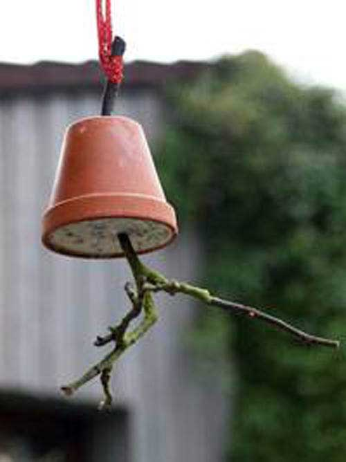 Twiggy Decorative Bird Feeders - Clay Pot Crafts