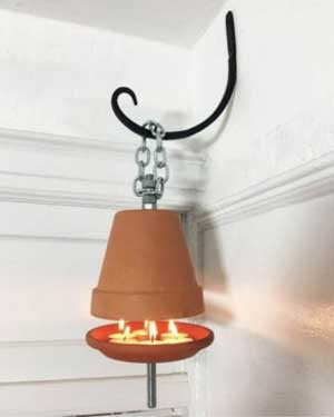 Wall Bracket Clay Pot Heaters - Clay Pot Crafts