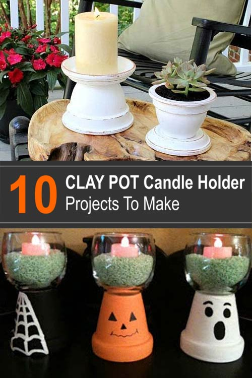 10 Clay Pot Candle Holder Projects to Make