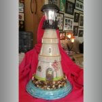 Artistic Paint Clay Pot Lighthouse - Clay Pot Crafts