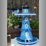 Bird Feeder Clay Pot Lighthouse - Clay Pot Crafts