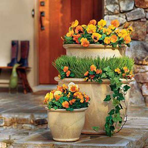 Bulbous Tiered Terracotta Planter - Clay Pot Crafts