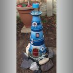 Decorative Clay Pot Lighthouse - Clay Pot Crafts