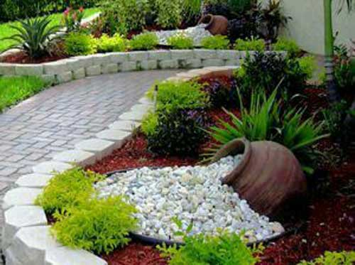 Front Garden Feature Dry River Bed - Clay Pot Crafts
