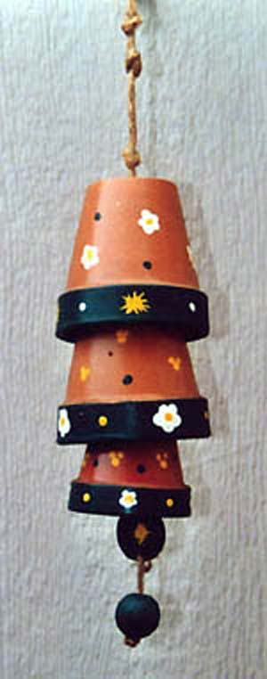 Hand Painted Clay Pot Wind Chimes - Clay Pot Crafts