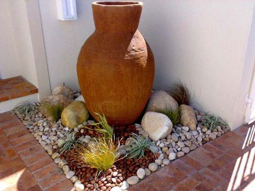 Large Pot Small Corner Arrangement - Empty Terracotta Pot