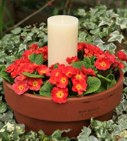 Quick Easy Outdoor Clay Pot Candle Holder