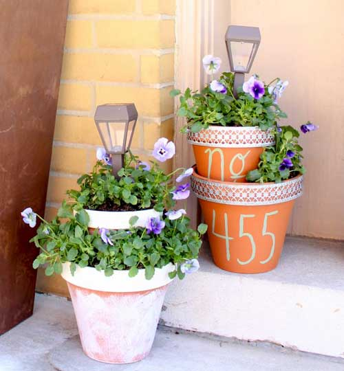Solar Light Terracotta Tiered Planter - Clay Pot Crafts