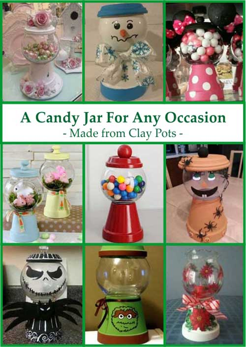 Candy Jar - Clay Pot Crafts