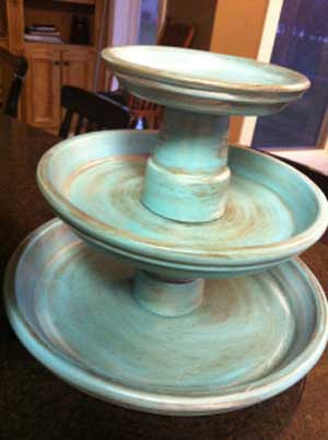 Antique Looking Terracotta Cupcake Stand - Clay Pot Crafts