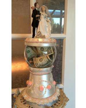 Bride and Groom Candy Jar - Clay Pot Crafts