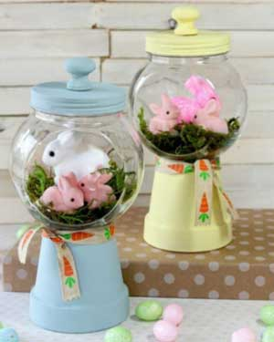 Bunny Candy Jar - Clay Pot Crafts