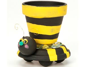 Clay Pot Bumble Bee Planter - Clay Pot Crafts