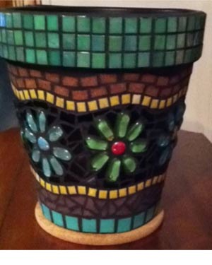 Colorful Flowers Mosaic Clay Pots - Clay Pot Crafts