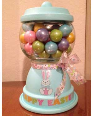 Easter Candy Jar - Clay Pot Crafts
