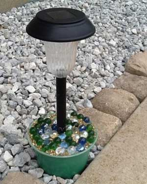 Marbles Solar Garden Lights - Clay Pot Crafts
