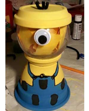 Minions Candy Jar - Clay Pot Crafts