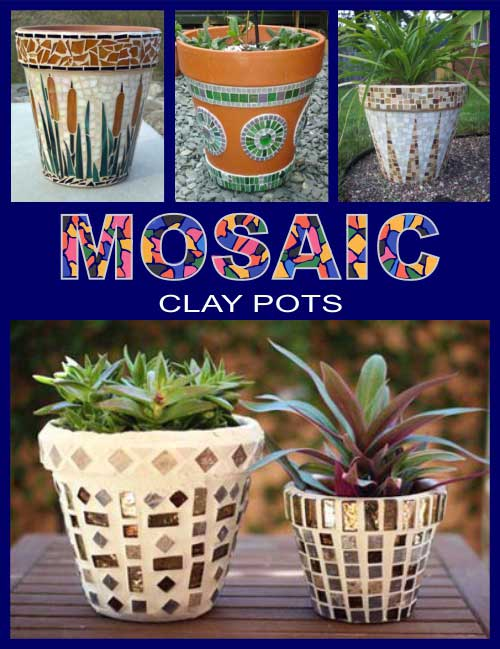 Mosaic Clay Pots - Clay Pot Crafts