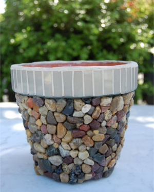 Pebbles Mosaic Clay Pots - Clay Pot Crafts