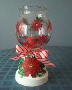 Poinsettia Candy Jar - Clay Pot Crafts