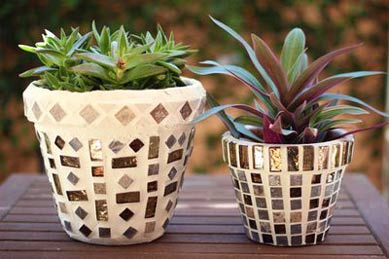 Pre-Cut Tiles Mosaic Clay Pots - Clay Pot Crafts
