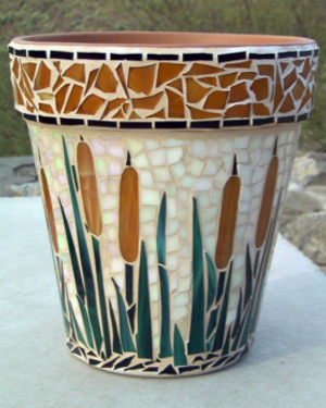 Reeds Mosaic Clay Pots - Clay Pot Crafts