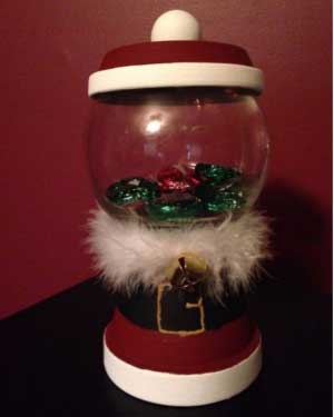 Santa Candy Jar - Clay Pot Crafts