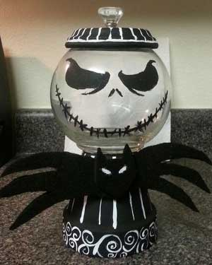 Scary Candy Jar - Clay Pot Crafts