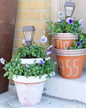 Stacking Pots Solar Garden Lights - Clay Pot Crafts