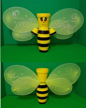 Standing Clay Pot Bumble Bee With Wings - Clay Pot Crafts